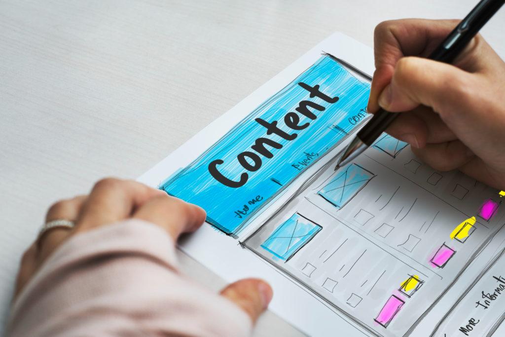 Weboldal tartalom tervezés